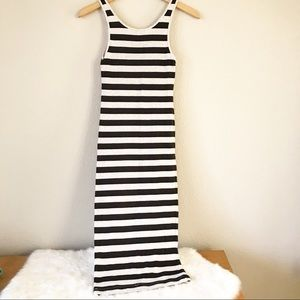 H&M Stripe Maxi Ribbed Dress